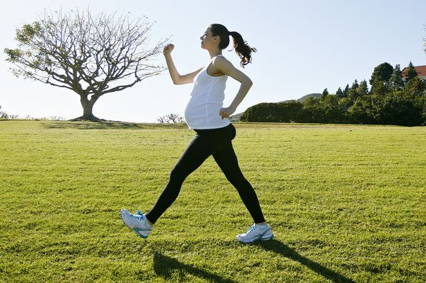 Pregnant exercising