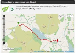 Fangs Brow to Loweswater Map