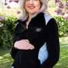 black and blue maternity fleece