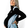 side view of black maternity fleece