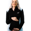 front view black maternity fleece