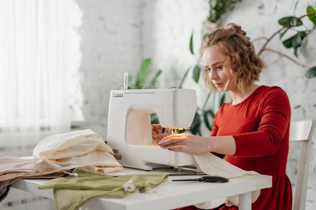 Seamstress up cycle maternity clothes